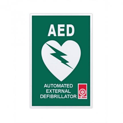 AED location sticker 30cm x 20cm