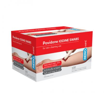 Cleansing wipes - iodine swabs