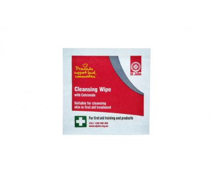 Cleansing wipes with cetrimide